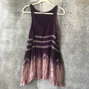 Free People Dresses - Free People XS Rare Ombre Voile Lace Trapeze Slip